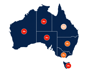 Electricity rates Australia map